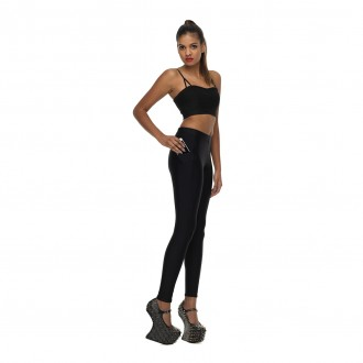 Shimmer Black Pockets Leggings 01 FEATURE