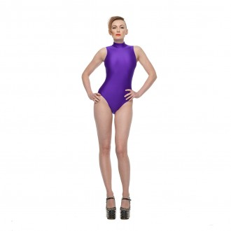 Shimmer Purple Bodysuit 03 Front