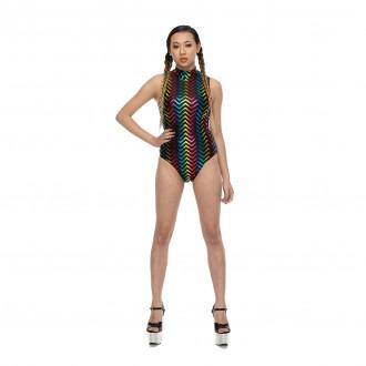 Jagged Rainbow Bodysuit 01 FEATURE